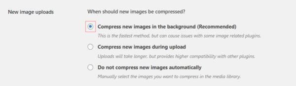 Compress JPEG & PNG image 設定